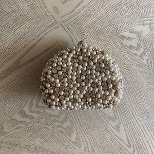 Handbags - Unique diamond and pearl evening bag